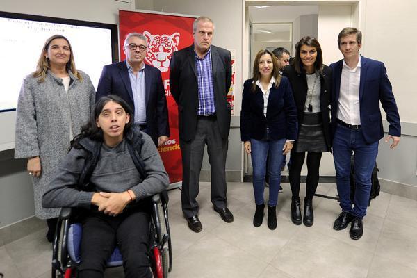 Zamora en el lanzamiento de un posgrado gratuito en educación física orientada a personas con discapacidad en el Centro Universitario Tigre, en conjunto con la Universidad de Hurlingham.