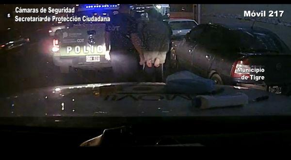 Gracias a las cámaras de Tigre, los detuvieron robando pertenencias de una camioneta