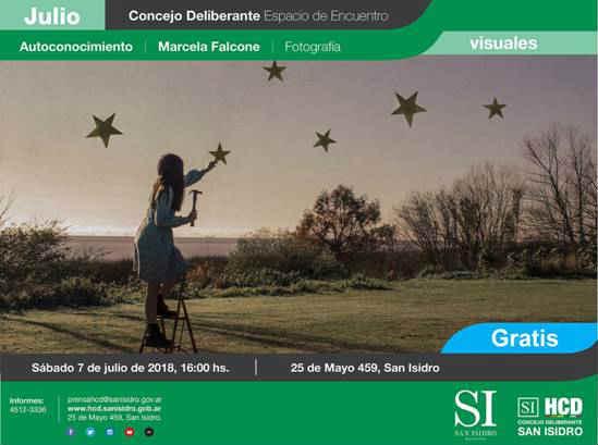 """La exposición """"Autoconocimiento"""" de Marcela Falcone se inaugurará el sábado 7 de julio, a las 16, en el Concejo Deliberante de San Isidro (25 de Mayo 459). Con entrada gratuita, puede visitarse hasta el jueves 26 de julio."""