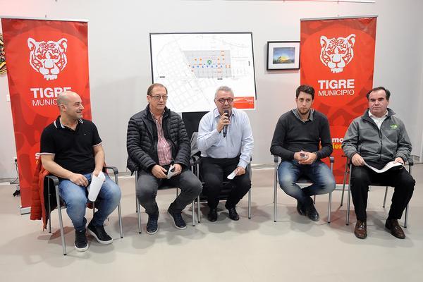 Julio Zamora presentó a comerciantes de Benavídez un proyecto de reordenamiento vial