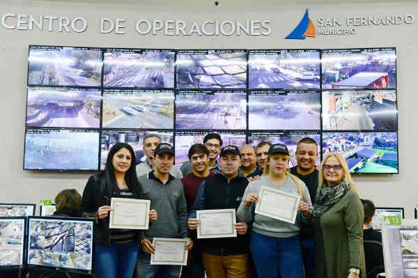 San Fernando capacitó al personal del Centro de Monitoreo en la búsqueda y análisis de imágenes