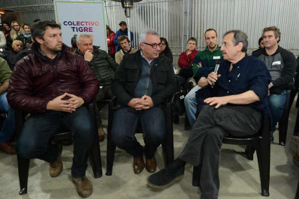 Ricardo Alfonsín abrió el espacio Colectivo Tigre