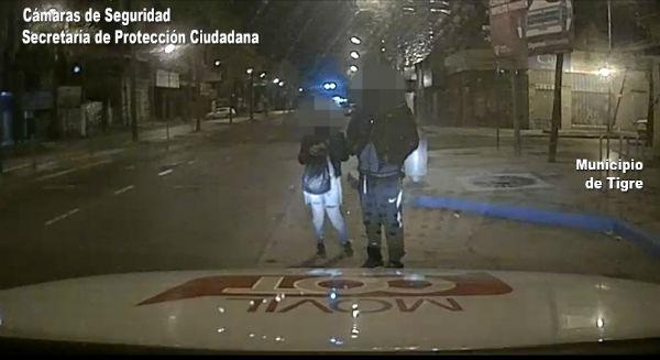 Pareja detenida en Tigre con una bomba molotov, un cuchillo y drogas