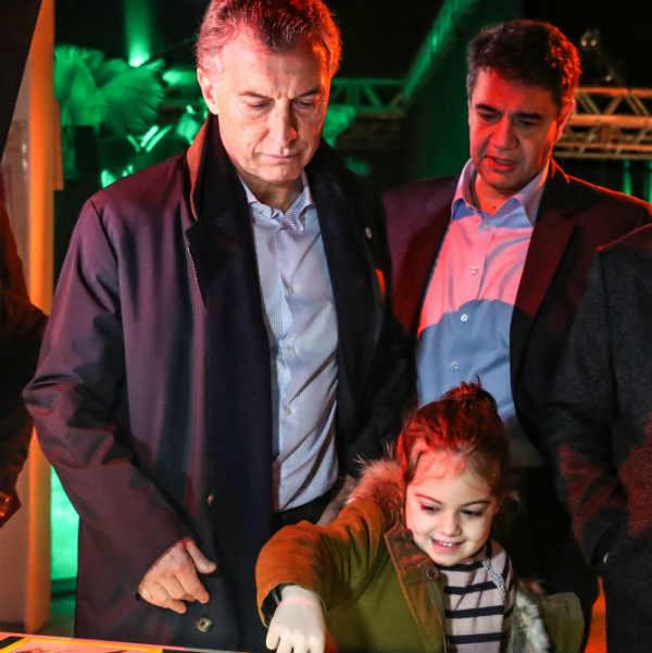 El presidente recorrió junto a Jorge Macri la apertura de vacaciones de invierno en Tecnópolis