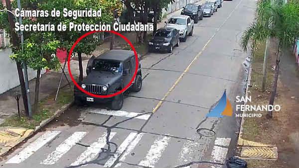 San Fernando: Gracias a las cámaras, un hombre fue detenido por robar un auto
