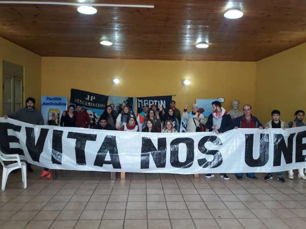 El Peronismo de San Fernando homenajeó a Evita, y marchó en contra del decreto de Macri sobre las Fuerzas Armadas