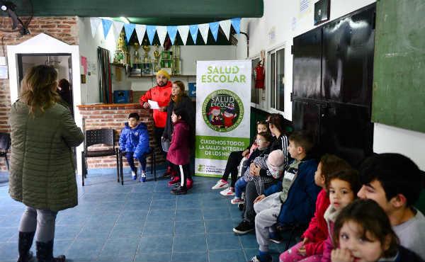 San Fernando realizó un control de Salud Escolar en el Club San Ginés