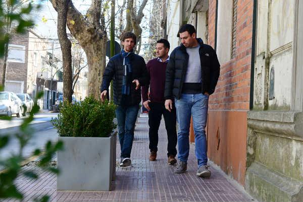 la restauración de la Plaza Carlos Pellegrini y el Canal