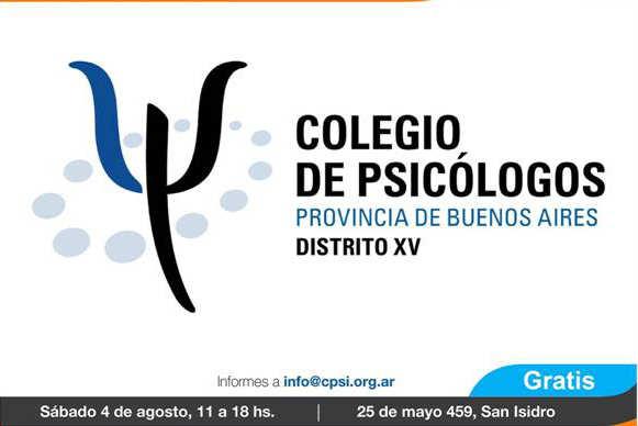 Se realizará en San Isidro la Feria del Libro del Colegio de Psicologos de la Provincia de Buenos Aires