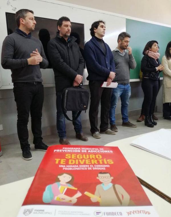 """Para prevenir y tratar las adicciones de los jóvenes, Tigre lanzó el programa """"Seguro te divertís"""""""