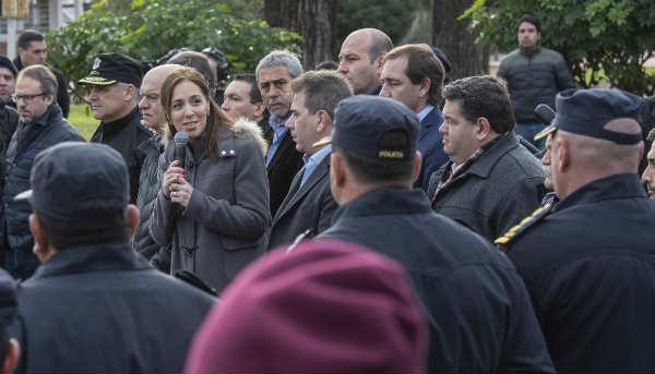 La gobernadora bonaerense, María Eugenia Vidal, anunció hoy que se reforzarán los operativos de control en 29 municipios del conurbano