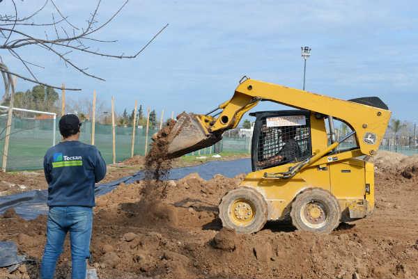 San Fernando construye un gimnasio en el Polideportivo N°2
