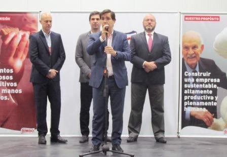 Bimbo invierte 600 millones de pesos en su planta de San Fernando -Palabras del Ministro Tizado