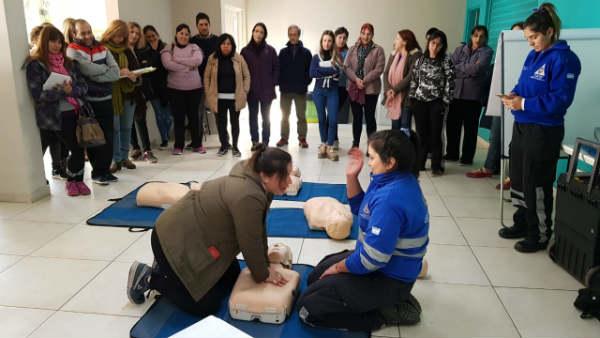 Vicente López: Dictan talleres gratuitos de RCP y Primeros Auxilios