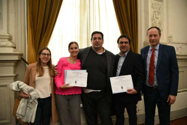 eferentes de educación del Frente Renovador, Luciana Padulo y Diego Di Salvo, tras asumir como Consejeros Generales de Educación de la Provincia de Buenos Aires