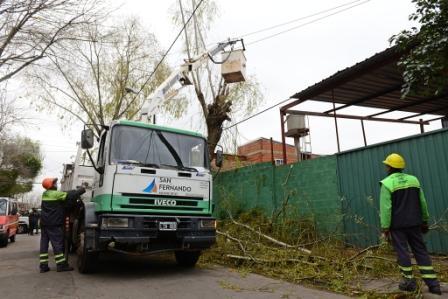El COEM de San Fernando sostuvo tareas preventivas frente al alerta por sudestada