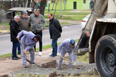 Tigre construye una estación aeróbica en el circuito peatonal Paul Groussac