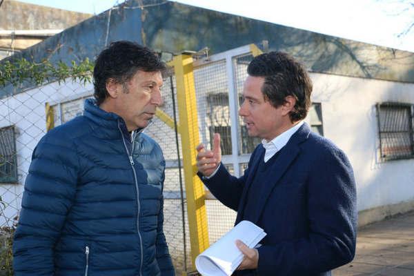 Posse y Sánchez Zinny visitaron la Escuela Técnica Nº 4 de Boulogne