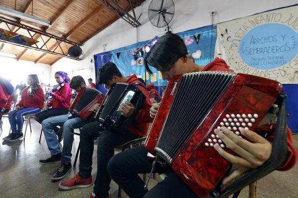 La orquesta infanto juvenil de Baires-Bancalari celebró su cuarto aniversario