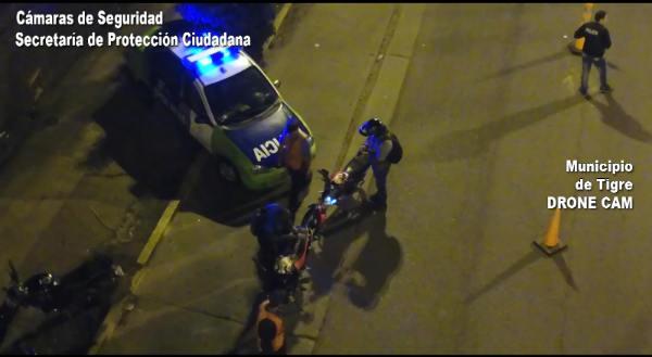 Con el apoyo tecnológico del COT, efectivos policiales realizaron un operativo saturación en barrios de Tigre