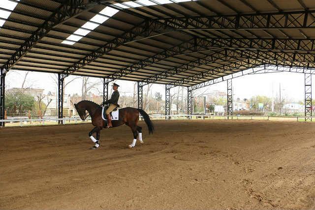 Nueva pista cubierta para practicar equitación en el Club Hípico del Norte