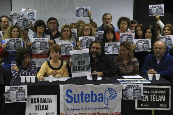 El líder del gremio docente SUTEBA, Roberto Baradel, denunció hoy que