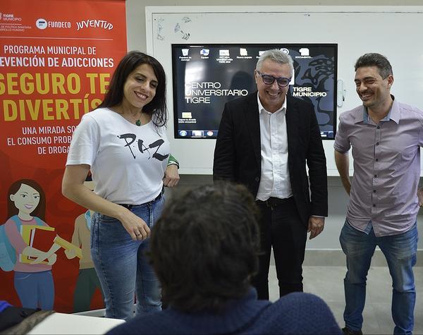 Julio Zamora y Victoria Donda participaron del cierre del programa
