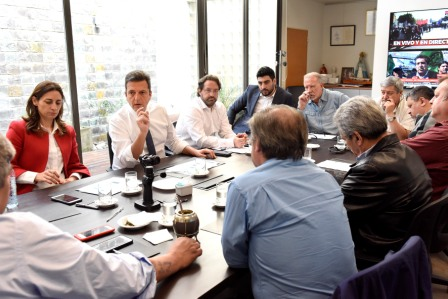 Sergio Massa recibió a representantes de la Corriente Federal de Trabajadores