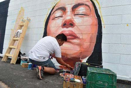 "El arte de ""Pintó Tigre 2"" llegó a Ricardo Rojas"