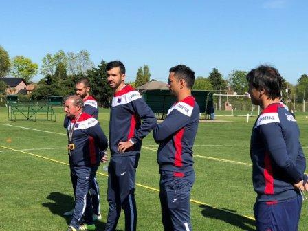 Mariano Echeverría dirigió hoy su primera práctica en Tigre tras haber sido designado como el sucesor de Cristian Ledesma.