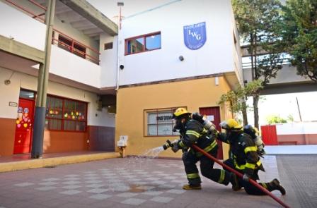 San Fernando hizo un simulacro de incendio en el Winter Garden