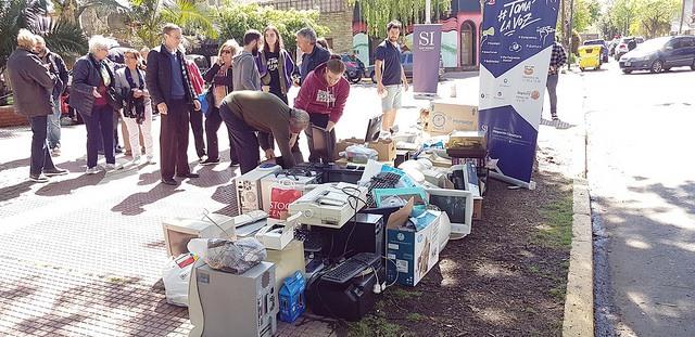 Se realizó en San Isidro una nueva jornada de recolección de residuos electrónicos