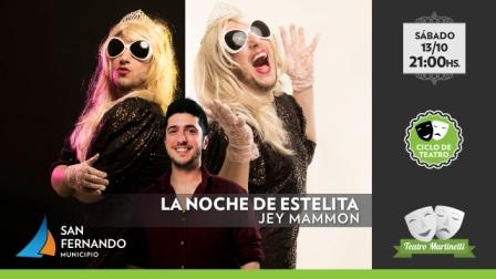 Este sábado, llega Jey Mamón con un show humorístico al Teatro Martinelli de San Fernando