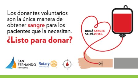 San Fernando sostendrá una jornada de donación de sangre en la Plaza Mitre