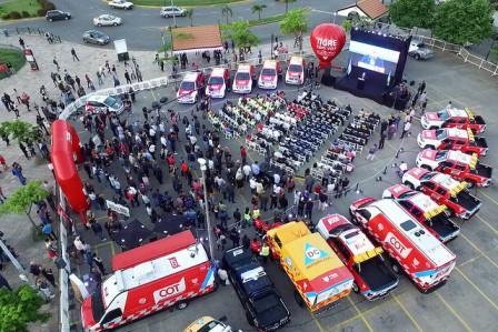 El municipio de  Tigre presentó los 15 nuevos móviles al Sistema de Protección Ciudadana