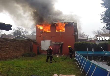 Controlan un feroz incendio en Don Torcuato