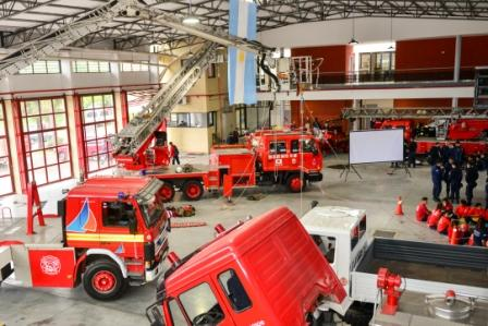 El Cuartel de Bomberos de San Fernando fue sede del Encuentro Regional de Cadetes