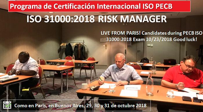 Programa de Certificación Internacional PECB ISO 31000:2018 Risk Manager