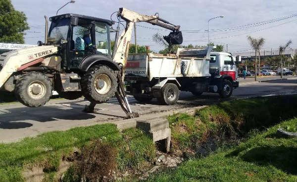 Tigre profundiza la limpieza de desagües en Troncos del Talar