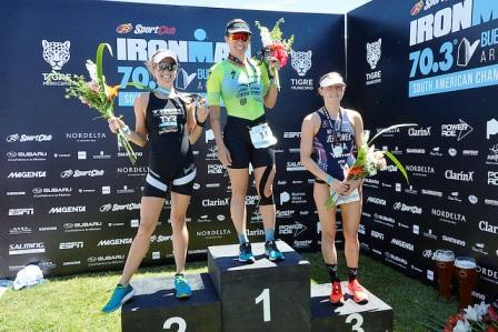 Rodolphe Von Berg y Pamella Oliveira, campeones del Ironman 70.3 disputado en Tigre