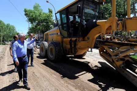 El municipio continúa con su plan de asfalto en más localidades de Tigre