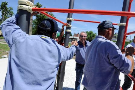 Tigre instala una nueva estación saludable en La Paloma