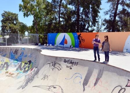 Juan Andreotti visitó la etapa final del Parque de Deportes Extremos de San Fernando