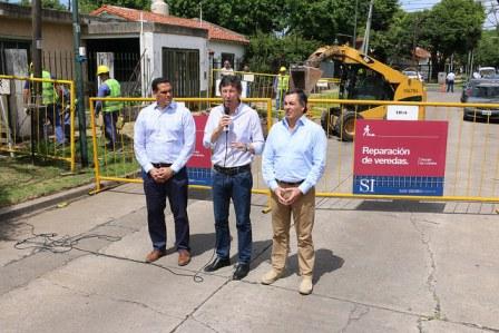 San Isidro presentó un plan integral de reparación de veredas en todo el partido