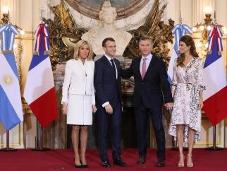 Macri y el presidente de Francia Macron