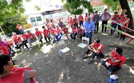 Julio Zamora acompañó a los jóvenes de