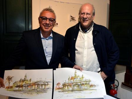 El artista y arquitecto de Tigre Carlos Rulli presentó sus obras en el Museo de la Reconquista