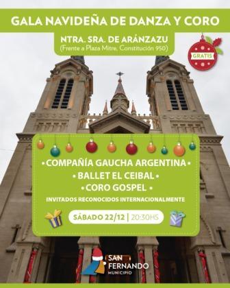 Gala Navideña de Danza y Coro en la Parroquia Aránzazu de San Fernando