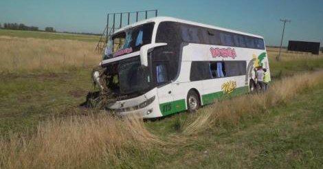 Más de 60 heridos por vuelcos de micros en las rutas bonaerenses