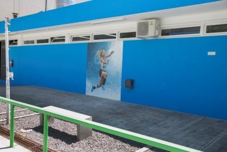 Delfina Merino, reconocida por Vicente López con un mural en Campo de Deportes Nº1